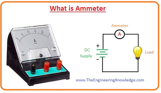 Effect of temperature on ammeter Ammeter shunt Moving iron ammeter, Electrodynamics ammeter Moving magnet ammeter, Moving coil ammeter Types of ammeter How to use ammeter Why is an ammeter connected in series and a voltmeter in parallel in a circuit? Difference between ammeter and voltmeter What is Ammeter, Difference between ammeter and galvanometer