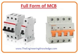 Difference Between MCB, MCCB, ELCB, RCCB, Rating of MCB, Types of MCB, Working Principle of MCB, Operation of MCB, Construction of MCB, full Form of MCB in Electrical,