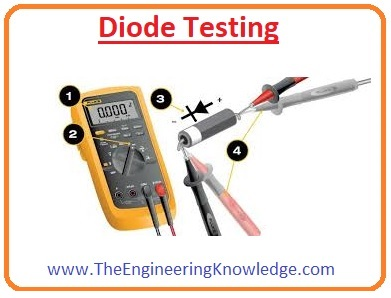 Diode Testing Using Analog Mulitmeter, Checking a Diode with the OHMs Function, Defective Diode Test, Working Diode Testing, Diode Testing, DMM Diode Test Position,