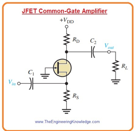 Cascode Amplifier,Common-Gate FET Amplifiers, JFET common-gate amplifier,