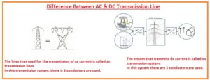 Difference Between AC & DC Transmission Line
