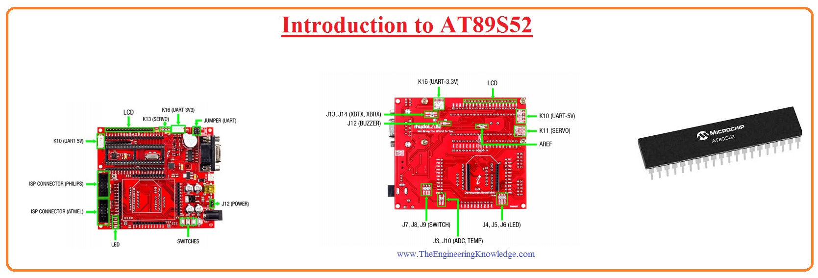 Introduction to AT89S52 AT89S52 pinout, AT89S52 features, AT89S52 working, AT89S52 application, AT89S52 block diagram