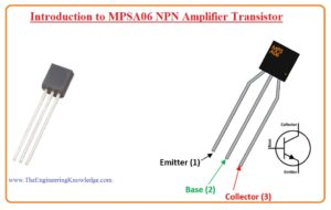 Introduction to MPSA06 NPN Amplifier Transistor Pinout, Features, Datasheet