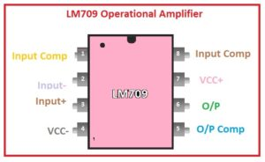 Where to use LM709 Op-Amp Features of LM709 Pin Description of LM709 LM709 Operational Amplifier