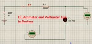 DC Ammeter and Voltmeter Use in Proteus Voltmeter & Ammeter in Proteus ISIS, voltmeter in proteus, ammeter in proteus, voltage probe in proteus, current probe in proteus, proteus voltmeter, proteus ammeter